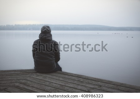 Lonesome Guy At The Lake
