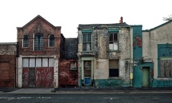Long abandoned and derelict buildings in Baker Street, Hull