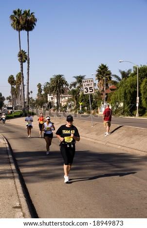 LONG BEACH (CA) - OCTOBER 2008. Long Beach international marathon in California. on October 12th 2008.