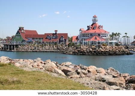 Long Beach Pier - stock photo