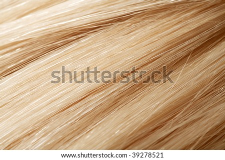 long blond human hair