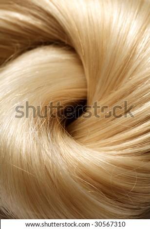long blond human hair background