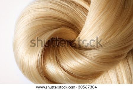 long blond human hair close-up