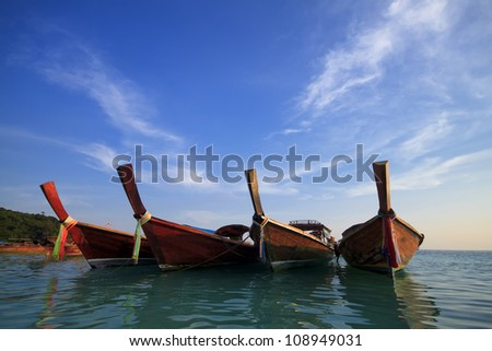 long boat and lipe  island in Thailand