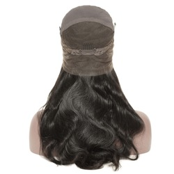 Long body wave wavy black human hair weaves extensions lace wigs