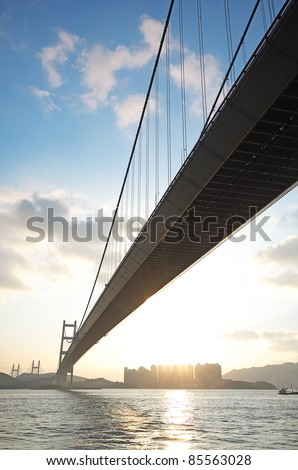 long bridge in sunset hour #85563028