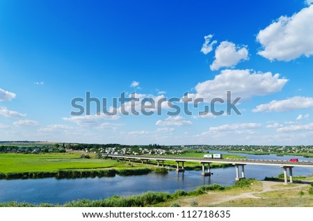 long bridge over river