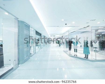 Long corridor and showcase