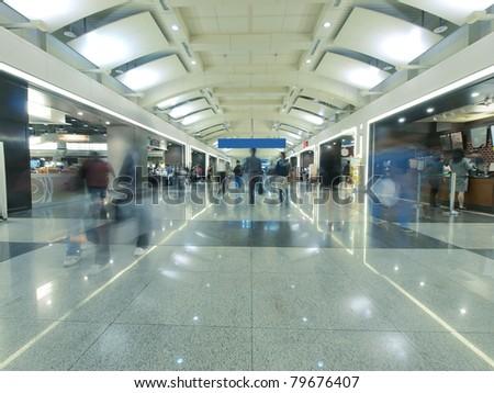 Long corridor of railway station