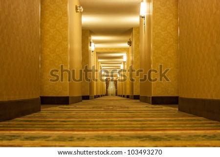 Long creepy hallway
