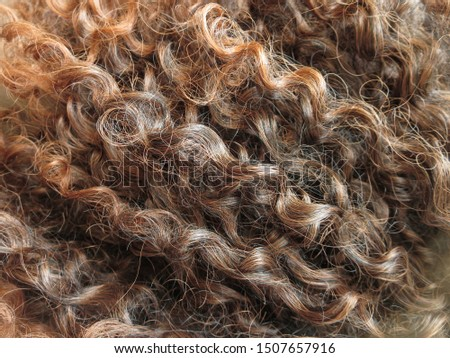 Long curly brown artificial hair