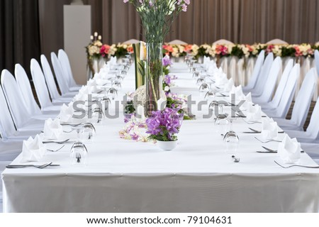 Long dinner table