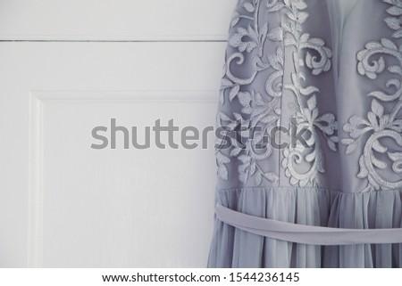 Long elegant silver purple bridesmaid dress #1544236145