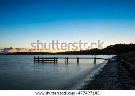 Long exposure at beach in Abenraa Denmark #477497143