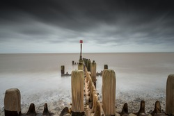 Long exposure at Happisburgh beach, Norfolk coast