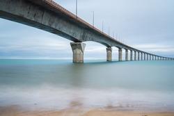 Long Exposure Bridge to Ile de Re, France