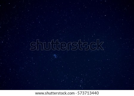 Long exposure clear night sky with shiny stars. - Shutterstock ID 573713440