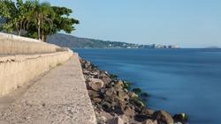 long exposure cove on the rim of rio de janeiro