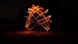 Long exposure fire art