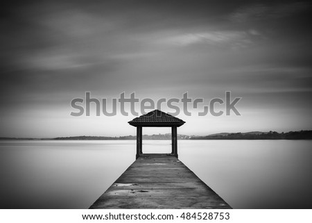 Long exposure image of a Jetty. Image a bit noise due to long exposure technique