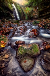 Long exposure landscape of Tatlica waterfalls of Erfelek region in Sinop, Turkey. Erfelek is a town and district of Sinop Province in the Black Sea region of Turkey.
