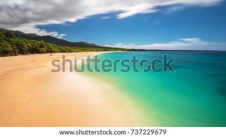 Photo of  long exposure of Big Beach on the Island of Maui, Hawaii