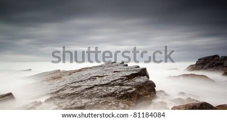 long exposure of sea and rocks #81184084