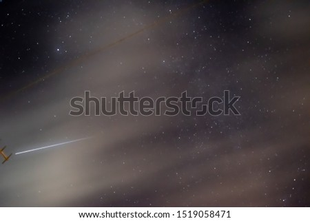 Long exposure of The International Space Station flying overhead