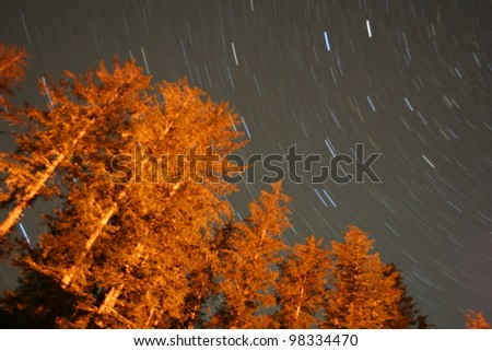 Long exposure of the stars