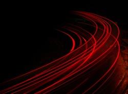 Long exposure of traffic at night in Calgary
