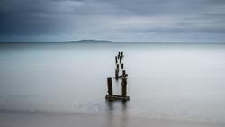 Long exposure on Malahide (Ireland) coast