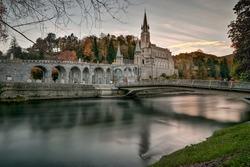 Long Exposure photo of Lourdes Sanctuary France