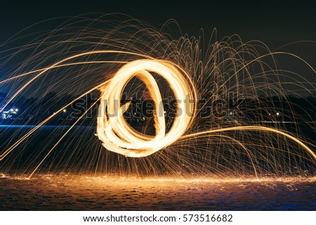 Long exposure photography with the fire ball #573516682