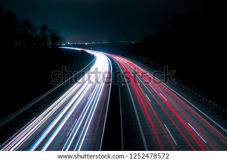 Long exposure shot of a German highway #1252478572