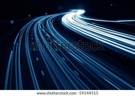 long exposure traffic shots