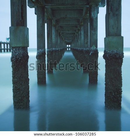 Long Exposure Water Under The Bridge