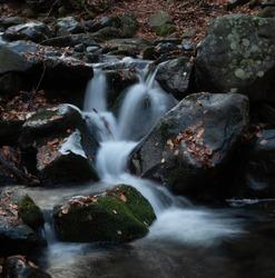 Long exposure waterfalls near Dragalevtsi, Vitosha, Bulgaria
