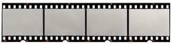 long filmstrip on white, picture placeholder with empty or blank frames