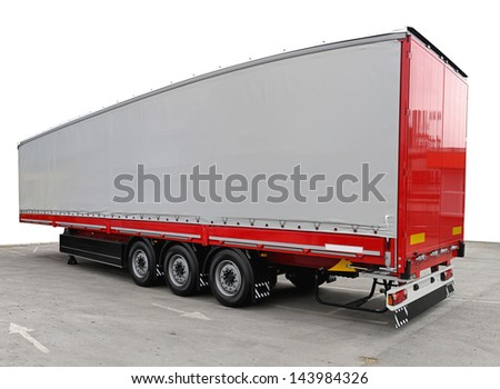 Long freight transport trailer for semi truck #143984326