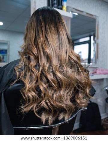 Long hair after Balayage treatment.  Photo stock ©