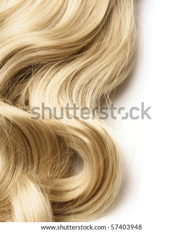 long hair as background