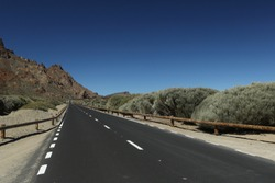 Long Highway in Canary Islands