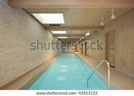 Long indoor swimming pool