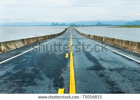 Long road through big lake