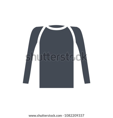 Long sleeve shirt silhouette top illustrator raster icon