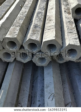 long stack concrete pile for ground construction