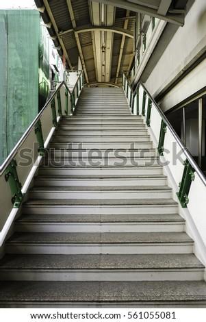 Long stairs at a bridge #561055081