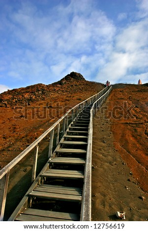 Long Stairs in the Galapagos Islands.