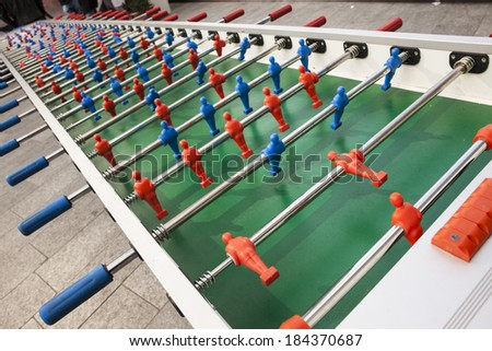 long table football