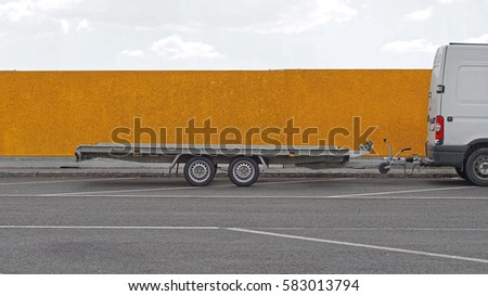Long trailer for vehicle transport #583013794